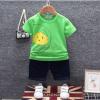 เสื้อ+กางเกง สีเขียว แพ็ค 4 ชุด ไซส์ 80-90-100-110