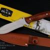 มีดใบตาย BUCK สันหนา ด้ามไม้ 440C Steel Blade Camping A21 (OEM)