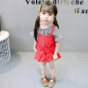 ชุดเซตเสื้อลายสก็อตสีดำ+เอี๊ยมกระโปรงสีแดง แพ็ค 4 ชุด [size 6m-1y-18m-2y]
