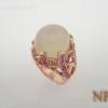 แหวนเงินมูนสโตนกับพิงค์ซัฟไฟร์(Silver ring moonstone&pink sapphire)