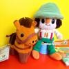 เซ็ตคู่ตุ๊กตา Gonta-kun from Dekirukana Japanese plush doll พร้อมพวงกุญแจ