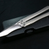 Brous Blades B3 Balisong Butterfly D2 Satin Blade Stainless Steel Handles