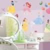 สติ๊กเกอร์ติดผนังห้องเด็กลายเจ้าหญิงดิสนีย์พร้อมอัญมณี - Wall Sticker Disney Princess with Gems