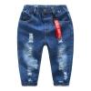 กางเกงยีนส์เด็กสีเข้มพร้อมป้ายสีแดงตรงเอว แพ็ค 4 ชิ้น [size 4y-6y]