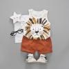 ชุดเซตเสื้อกล้ามลายสิงโต+กางเกงสีน้ำตาล แพ็ค 1 ชุด [size 2y]