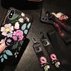 เคส iPhone X ซิลิโคนสกรีนลายดอกไม้สวยงาม หรูหรา สวยงามมาก ราคาถูก (สายคล้องแบบสั้นหรือยาวแล้วแต่ร้านจีนแถมมา)