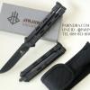 มีดบาลีซอง Balisong มีดควง มีดปีกผีเสื้อ ปลายแหลม ด้ามสีดำ BLA234