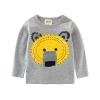 เสื้อแขนยาวสีเทาลายน้องหมี แพ็ค 6 ชิ้น [size: 2y-3y-4y-5y-6y-7y]