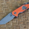 RHK Half Track Tanto Working Finish Blade Horse Engraved Orange G10 Cutout
