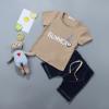 เสื้อ+กางเกง สีกากี แพ็ค 4 ชุด ไซส์ 80-90-100-110