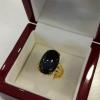 แหวนทองหยกดำ (Gold black jade ring)