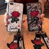 เคส ไอโฟน7 4.7นิ้ว tpu ลูกไม้ปักดอกกุหลาบพร้อมสายคล้อง 2 สั้น/ยาว