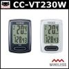 CAT EYE ไมล์ไร้สายรุ่นใหม่ VELO Wireless, CC-VT230W, สีดำ, สีขาว ไม่มีไฟ backlight