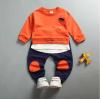 เสื้อ+กางเกง สีส้ม แพ็ค 4ชุด ไซส์ 80-90-100-110 (เหมาะสำหรับ 6ด.-4ปี)