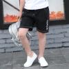 กางเกงขาสามส่วนสีดำแต่งลายตัวหนังสือสีขาว [size 4y-5y-6y]
