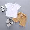 เสื้อ+กางเกง สีขาว แพ็ค 4 ชุด ไซส์ 80-90-100-110
