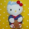 ตุ๊กตาเฮลโหลคิตตี้ชุดฮากาตะ Rare Limited Edt. HELLO KITTY in Hakata Farmer costume Japan งานคอลเลคสะสม