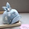 หมวกเด็กลายกระต่ายสีฟ้า แพ็ค 3 ชิ้น
