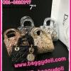 กระเป๋าแบรนด์ดิออร์ Dior Lady 7 นิ้ว **เกรดAAA** เลือกสีด้านในค่ะ