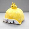 หมวกเด็กลายกระต่ายสีเหลือง แพ็ค 4 ชิ้น