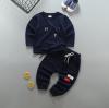 เสื้อ+กางเกง สีกรม แพ็ค 4ชุด ไซส์ 2-4-6-8 (เหมาะสำหรับ 6ด.-4ปี)