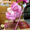 รถเข็นตุ๊กตาแบบมีหลังคา รถเข็นของเด็กเล่น น่ารักมีหลังคาด้วย