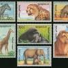 แสตมป์มองโกเลีย ชุด AFRICAN ANIMALS ปี 1991 - MONGOLIA