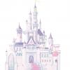 สติ๊กเกอร์ติดผนังห้องเด็กขนาดใหญ่ ลายปราสาทของเจ้าหญิงดิสนีย์ - Giant Wall Sticker Disney Princess Glitter Castle