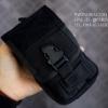 กระเป๋าคาดเอว ผ้าไนลอน B09 สีดำ