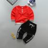เสื้อ+กางเกง สีแดง แพ็ค 4ชุด ไซส์ 2-4-6-8 (เหมาะสำหรับ 6ด.-4ปี)
