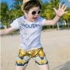 ชุดเซตเสื้อสีขาวลาย holiday + กางเกงขาสั้นสไตล์บาหลีของเด็ก [size 2y-3y-4y-5y-6y]