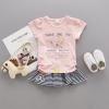 เสื้อ (ไม่รวมกระโปรง) สีชมพู แพ็ค 4 ชุด ไซส์ 80-90-100-110