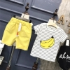 ชุดเซตลายกล้วยสีเหลือง แพ็ค 5 ชุด [size 2y-3y-4y-5y-6y]