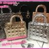 กระเป๋าแบรนด์ดิออร์ Dior Lady 10 นิ้ว **เกรดAAA** เลือกสีด้านในค่ะ