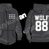 [พร้อมส่ง] เสื้อฮู้ด EXO WOLF 88 (สีดำ)