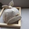 หมวกเด็กลายดาวสีน้ำตาลแต่งหูกระต่าย
