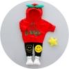 ชุดเซตเสื้อแขนยาวมีฮู้ดสีแดง+กางเกงขายาวสีดำ แพ็ค 2 ชุด [size 2y-4y]