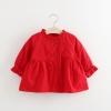เสื้อกันหนาวสีแดงแต่งกระดุมติดเพชร แพ็ค 3 ชุด [size 1y-2y-4y]