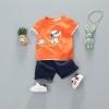 ชุดเซตเสื้อสีส้มลายสนูปปี้ + กางเกงสียีนส์เข้ม [size 6m-3y]