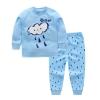 ชุดนอนแขนยาวสีฟ้าลายก้อนเมฆ แพ็ค 6 ชุด [size 3m-6m-1y-2y-3y-4y]