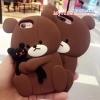 เคส iPhone 6 / 6s (4.7 นิ้ว) ซิลิโคน soft case หมีน้อยอุ้มตุ๊กตาน่ารักมากๆ ราคาถูก