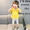 ชุดเซตเสื้อสีเหลือง+กางเกงสีขาว [size 6m-1y-18m-2y-3y]