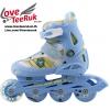 รองเท้าสเก็ต rollerblade รุ่น MPB-Kids สีฟ้า พร้อมเซทสุดคุ้ม Size S 28-31