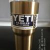 แก้วน้ำ YETI เก็บความเย็นได้ดีเยี่ยม สีทองอ่อน อย่างดี (OEM)