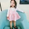 ชุดเดรสแขนยาวกระโปรงสีชมพู [size 6m-1y-18m-2y-3y]