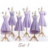 Pre-order ชุดราตรีสั้น ชุดเพื่อนเจ้าสาว สีม่วงอ่อน Lavender Lv-001