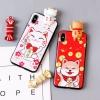 เคส iPhone X พลาสติก TPU ลายน้องแมว น้องหมา กวักนำโชค เกาะเคสน่ารักมากๆ ราคาถูก