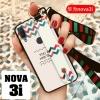 เคส Huawei Nova 3i เคสซิลิโคนพร้อมสายคาดไว้สอดมือง่ายต่อการถือใช้งาน พร้อมสายคล้อง