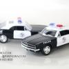 โมเดลรถตำรวจ อัตราส่วน 1:32 สีขาวตัดดำ รถตำรวจ