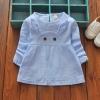 ชุดเดรสแขนยาวกระต่ายสีฟ้า [size 6m-2y-3y]